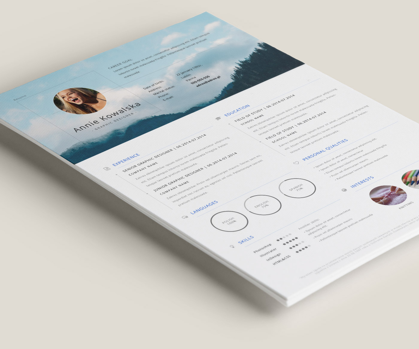 10 beautiful free resume templates 2018