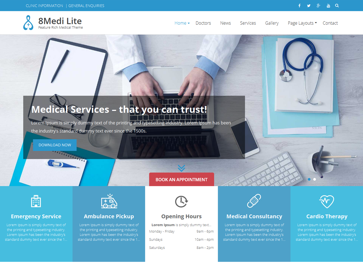 19 free medical wordpress themes 2018 themelibs for Medical design firms