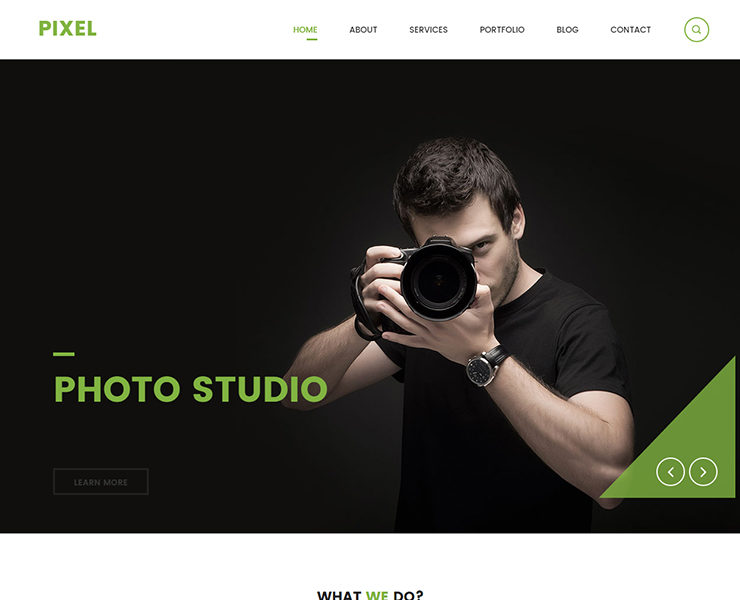 Best Free CSS Templates Themelibs - Photo studio website template
