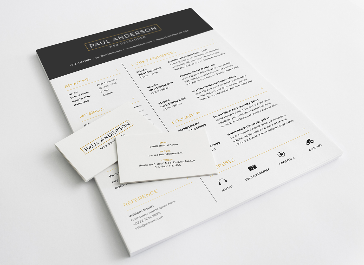 Beautiful Free Resume Templates   Themelibs