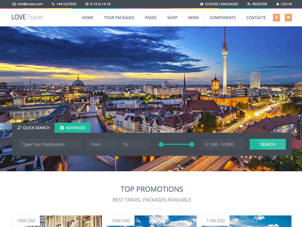 Travel agency website templates wordpress 50 best wordpress travel.