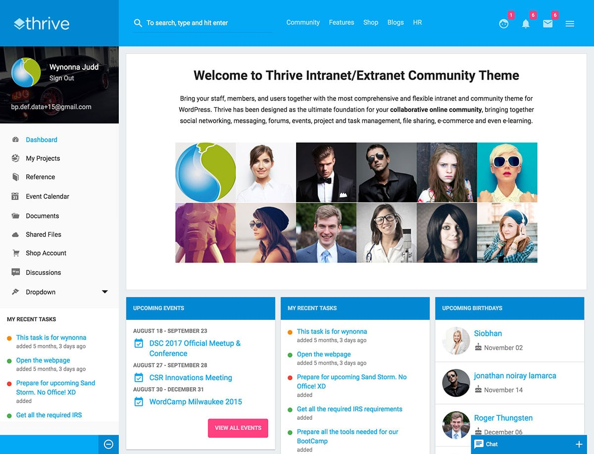7 best intranet wordpress themes 2018