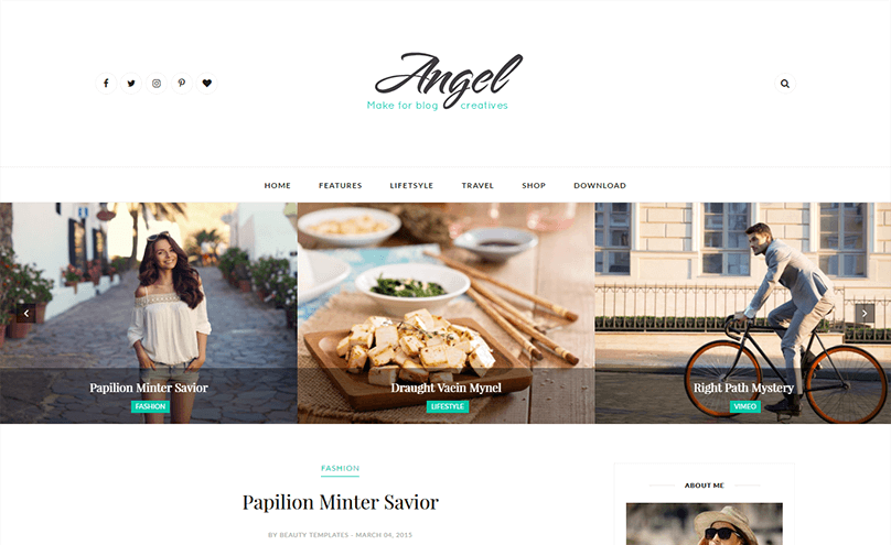 12+ Best Free Minimalist Blogger Templates 2018 - Themelibs