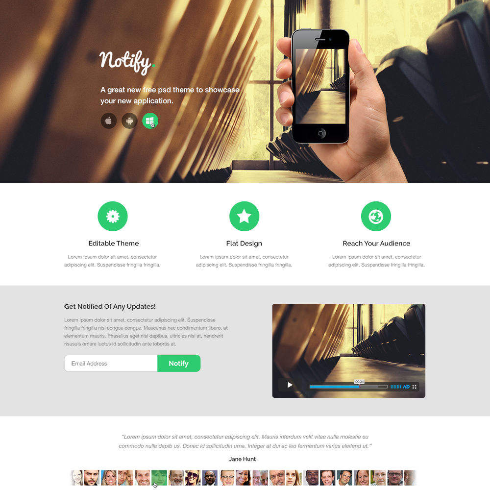 Psd Website Templates: 15+ Best Free PSD Website Templates 2018