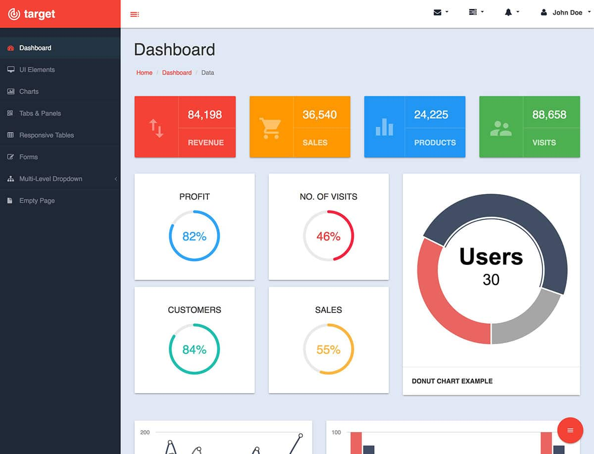 buy bootstrap admin template  20  Best Free Bootstrap Admin Templates 2018 - Themelibs