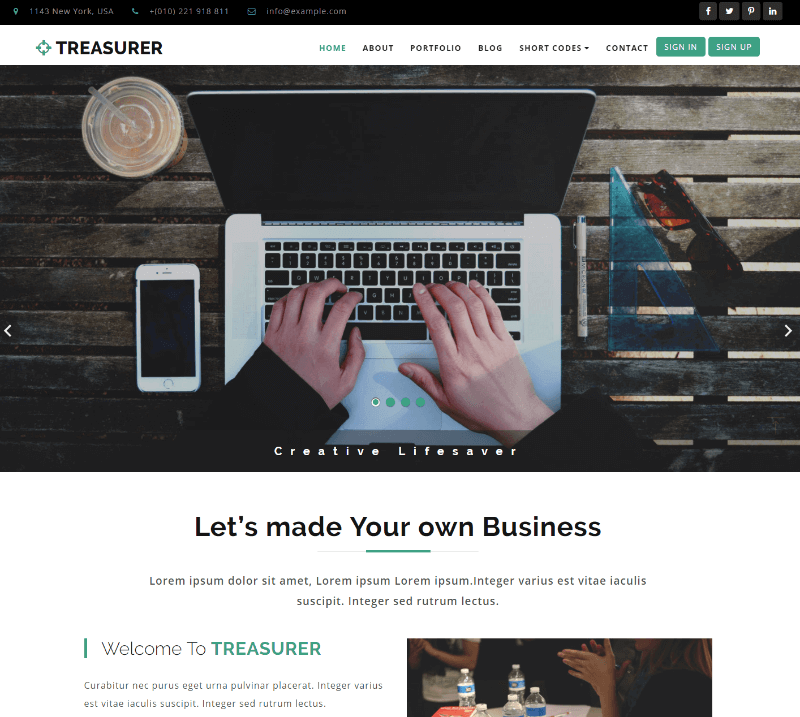 30 best free business website templates 2018 themelibs free business website templates flashek Gallery