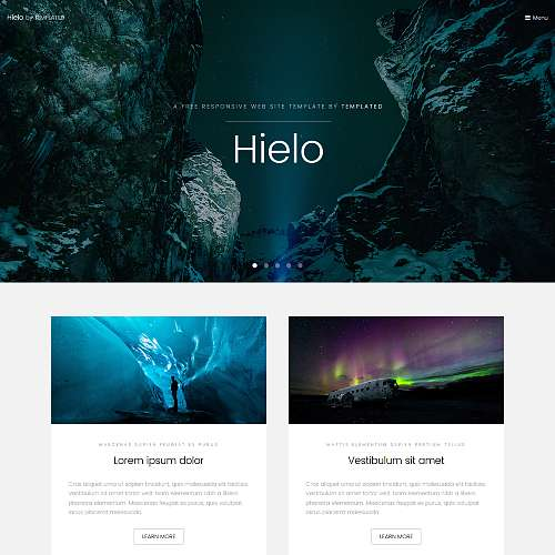 Homepage Web Design Tips: 20 Top Best Free HTML Templates 2018