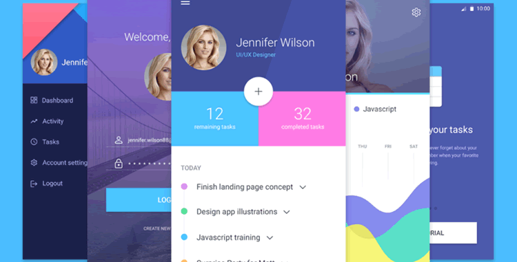 20 Best Free Mobile UI Kits for App Designers 2018