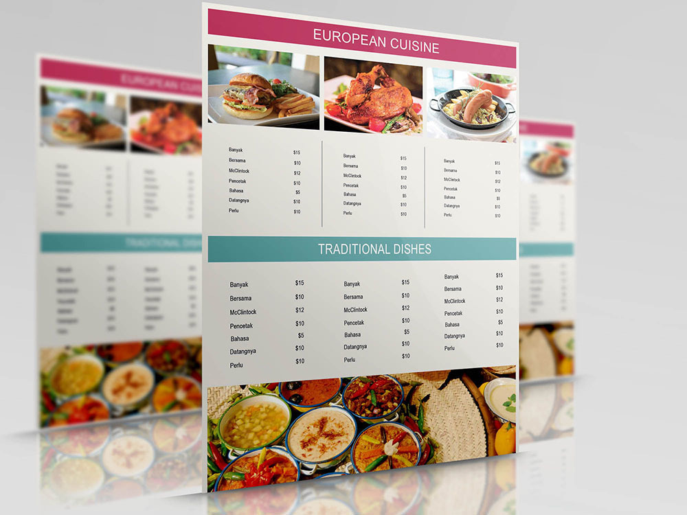 20 Best Free Restaurant Menu Templates in 2018 - Themelibs