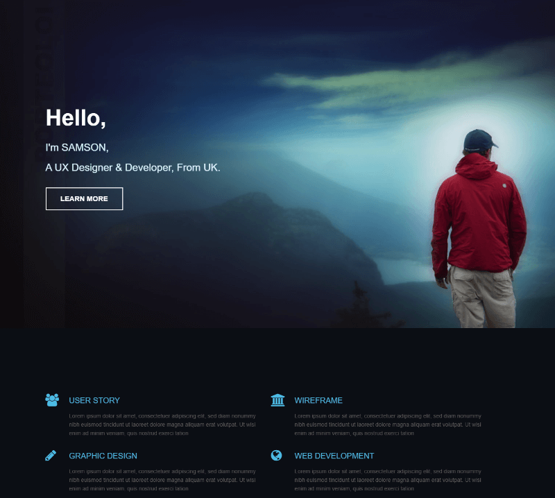 10 best free resume html website templates 2018 themelibs