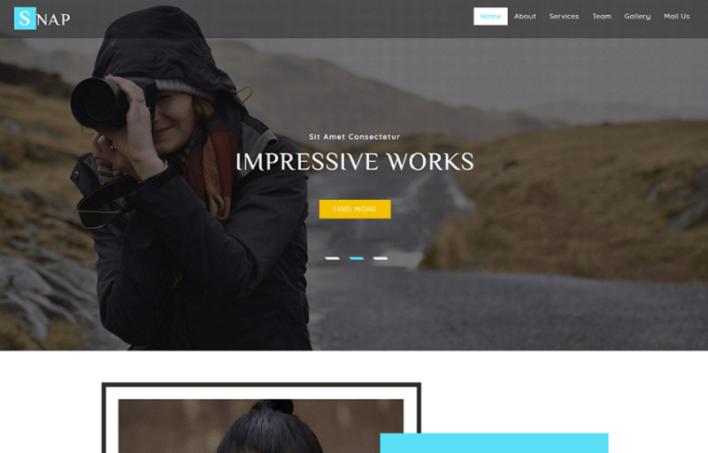Free Photography Website Templates Themelibs - Free photography website templates