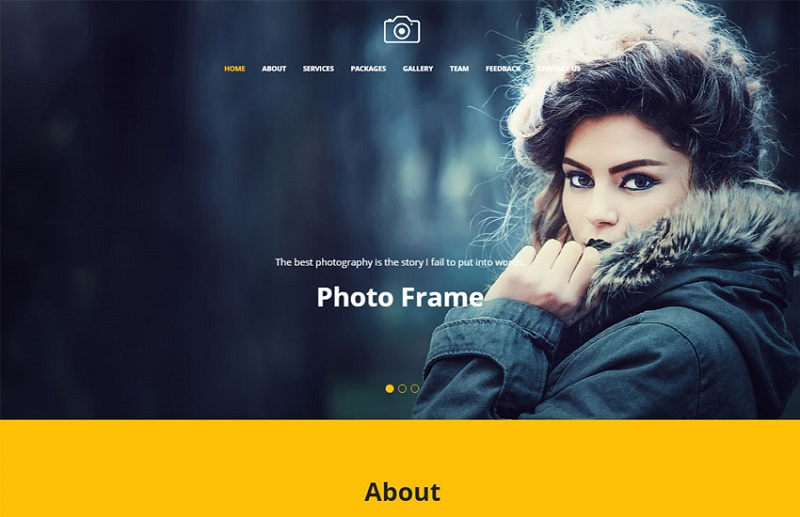 15 free photography website templates 2018 themelibs for Free photography website templates