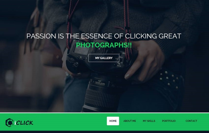 photography web design templates
