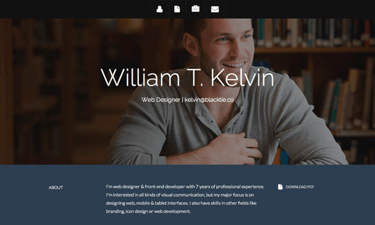 Free Resume Html Website Templates