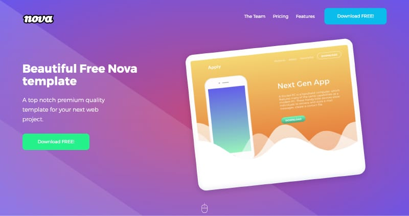 20 Free One Page Website Templates 2018 Themelibs