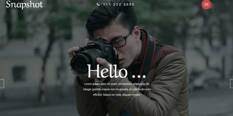 Free Photography Website Templates